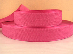 1 Yard - 1 inch PRETTY PINK Velvet-like with satin edge- velvet - reversible- same on both sides Ribbon.