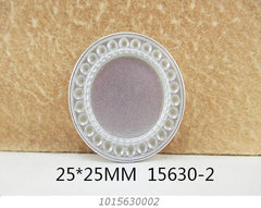 1 Piece -  Silver Tone Resin Cameo  - Center is 1 inch circle 15630-2 Cap Cameo