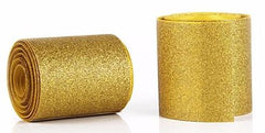 1 Yard - 3 inch Gold Glitter Super Sparkle Grosgrain Ribbon for 3 inch Cheer Hair Bow -  Grosgrain 3