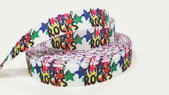 "1 Yard 7/8 inch 7/8"" inch 1st Grade Rocks First Grade - Teacher Student - Back to School - Printed Grosgrain Ribbon for 7/8 inch Hair Bow"