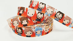 "1 Yard 7/8 "" inch Killing Game Kings Queens Dragons - Printed Grosgrain Ribbon for 7/8 inch Hair Bow  Ask a question $0.95"