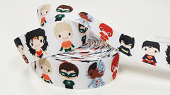 1 Yard 1.5 inch Super Hero Team - Printed Grosgrain Ribbon for 1 1/2 inch Hair Bow