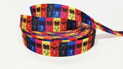 "1 Yard 7/8 "" inch Super Hero - Printed Grosgrain Ribbon for 7/8 inch Hair Bow"