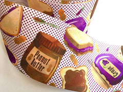 1 yard 3 inch Peanut Butter and Jelly Best Friends BFF Sandwich Printed Grosgrain Ribbon Cheer Hair Bow - 3""