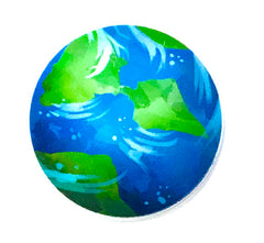1 PIECE - RESIN Planet Earth World Flatback Planar Flat back Accent - Approx. 2 inches for Hair bow Center