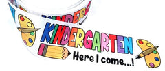"1 Yard 3 inch KINDERGARTEN Here I Come 3"" Back to School Kinder - Printed Grosgrain Ribbon for Hair Bow"