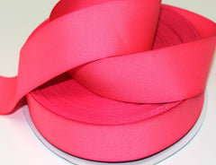 1 yard 1.5 inch  Neon Pink THICK  -  Printed Grosgrain Ribbon