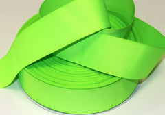 1 yard 2 inch  Neon Green THICK  -  Printed Grosgrain Ribbon
