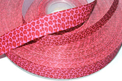1 yard 1 inch Leopard - Light and Dark Pink - newest design (leop201) -  Printed Grosgrain Ribbon