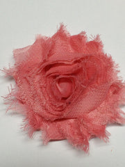 1 Piece  - Old Pink Rose Shabby Chic, Frayed Flower, Vintage Look for Headband, Hairclip, Hairbow