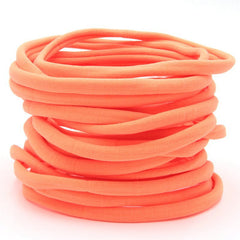 Neon Orange Nylon Headband | One Size Headband | THIN Soft Nylon Headband for baby and adults| Premium Infant & Baby Headbands | BULK