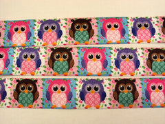 1 Yard -  1 inch ELASTIC  - Owl Blocks