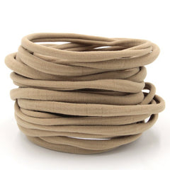 Tan Nylon Headband | One Size Headband | THIN Soft Nylon Headband for baby and adults| Premium Infant & Baby Headbands | BULK