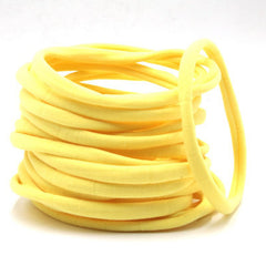 Yellow Nylon Headband | One Size Headband | THIN Soft Nylon Headband for baby and adults| Premium Infant & Baby Headbands | BULK