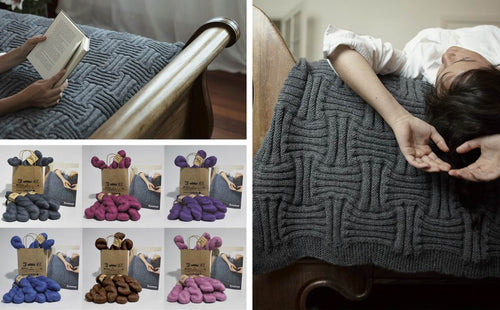 Basket Weave Throw in Alpaka Reina