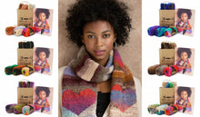 Load image into Gallery viewer, Heart Scarf in Noro's Kureyon