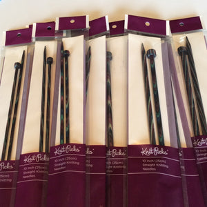 10 inch (25cm) Straight Knitting Needles (Sizes 4, 5, and 6)