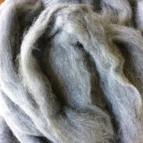 Light Gray Alpaca Roving