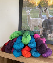 Load image into Gallery viewer, Hand Dyed Alpaca Merino Blend Yarn