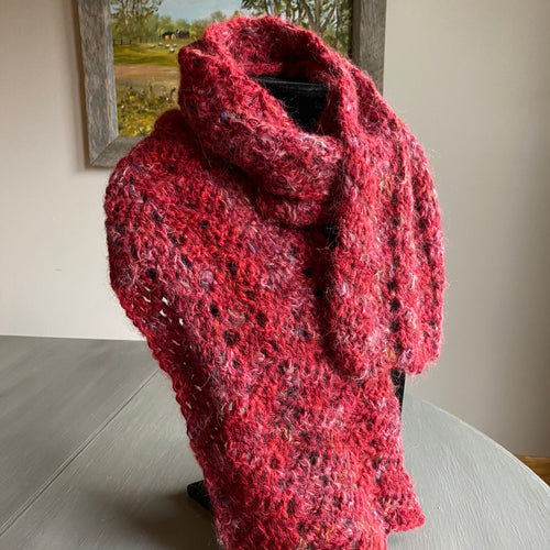 Crocheted alpaca scarf