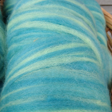 Load image into Gallery viewer, Turquoise Stripe Alpaca Roving
