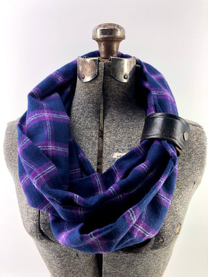 Limited Edition: BF Purple Pride Eternity Scarf with a Leather Cuff