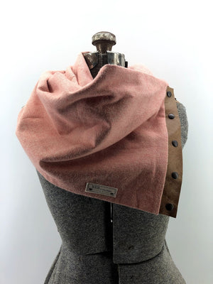 Coral Multi Snap Scarf with Leather Snaps