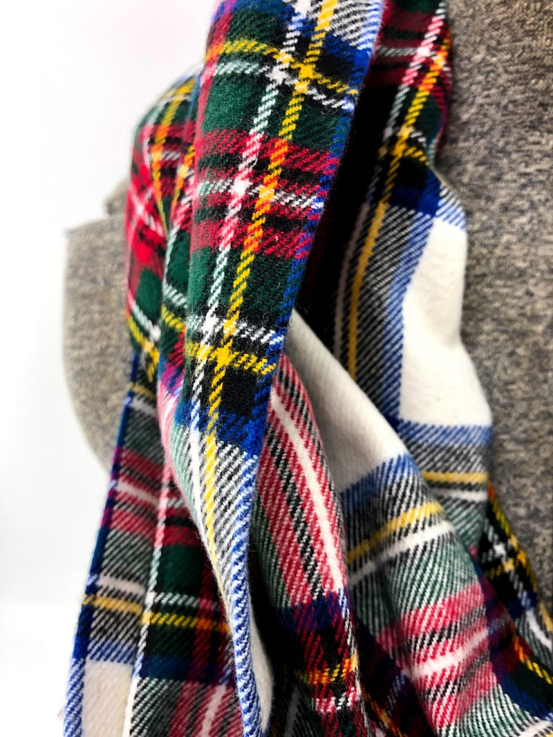 New Holiday Plaid Eternity Scarf with a Leather Cuff
