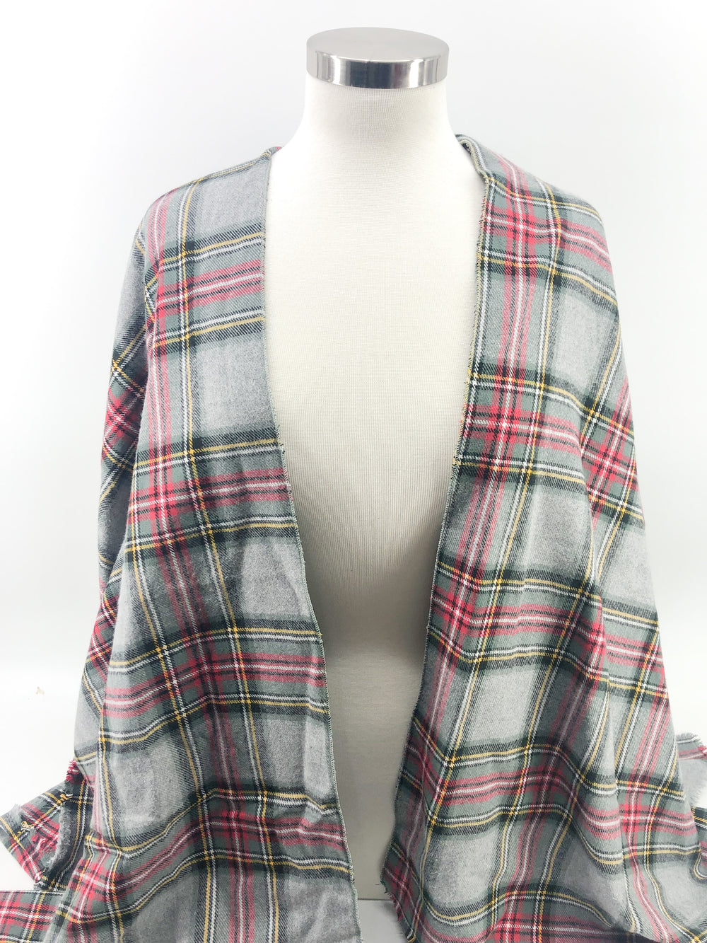 Gray Red & Yellow Plaid
