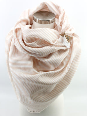 Sunshine Stripe Blanket Scarf with Leather Detail