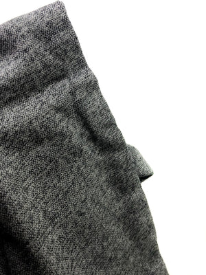 Heather Gray Eternity Scarf with a Leather Cuff