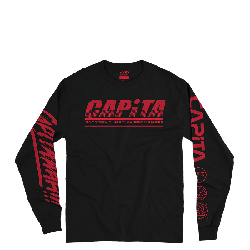 Factory Long Sleeve Tee Black