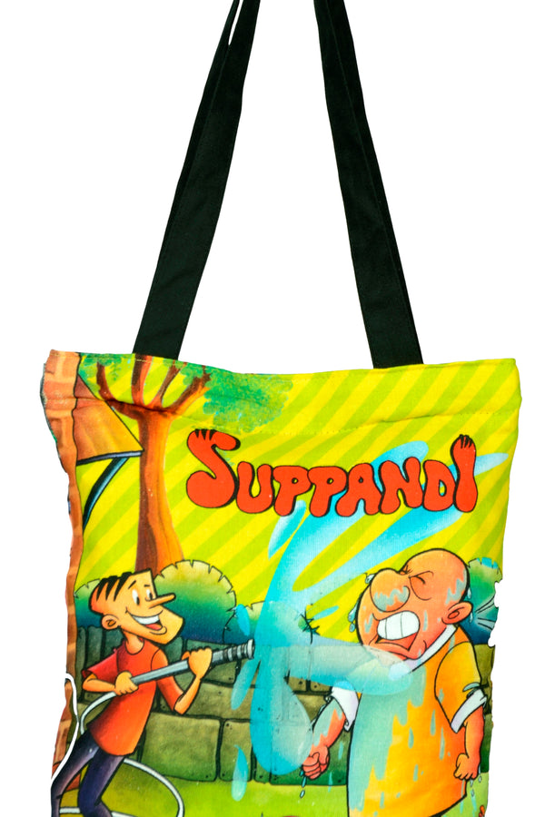 Suppandi Spalshing Cotton Tote Bag