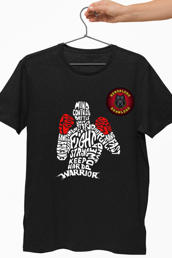 Bengaluru Brawlers Boxing Graphic Black Tshirt