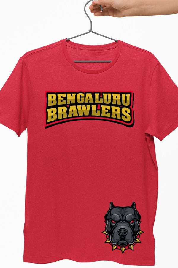 Bengaluru Brawlers Red Graphic Tshirt