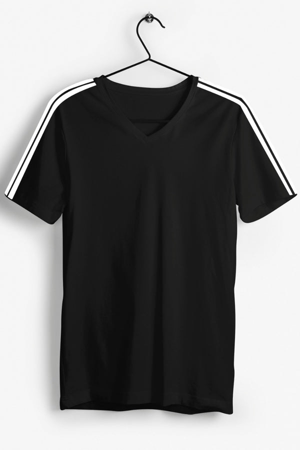 Black V neck Tshirt