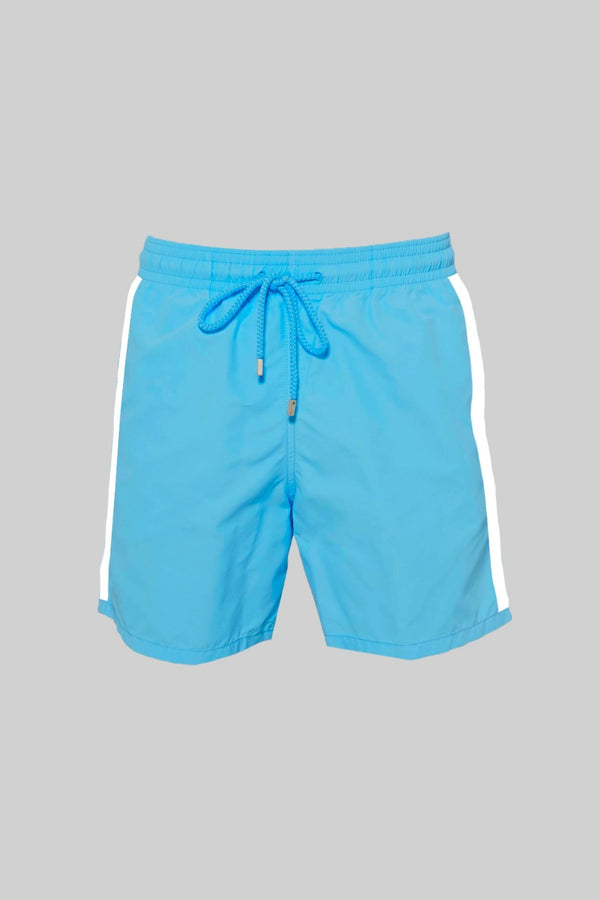 Blue Polyester Shorts