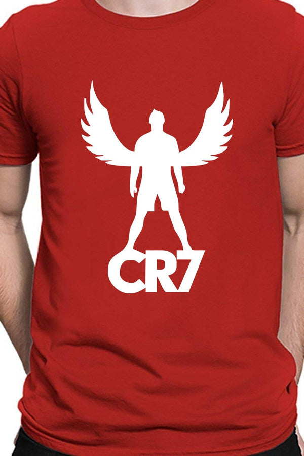 Cristiano Ronaldo Wings - Textual CR7 Portugal And Juventus Casual Red