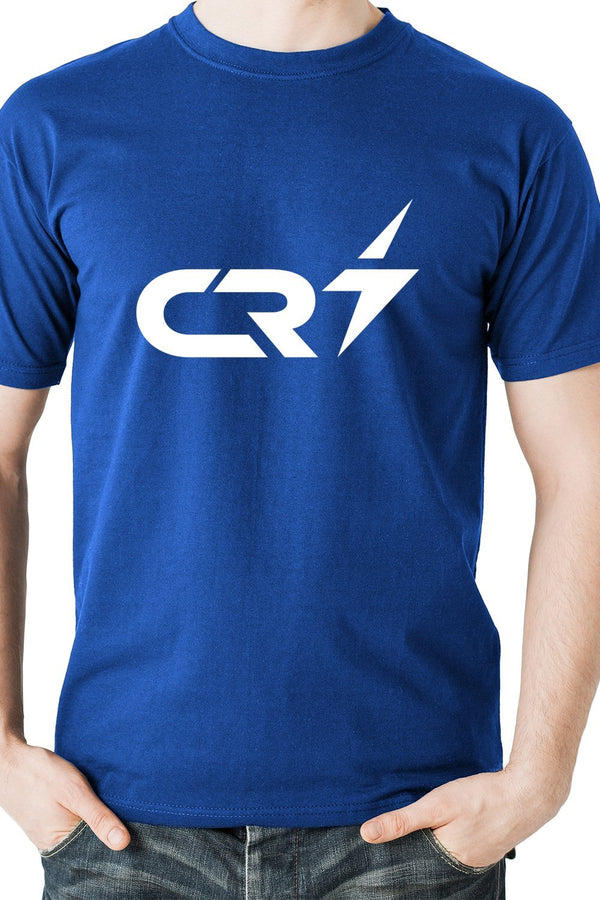 Cristiano Ronaldo - Textual CR7 Emblem Portugal And Juventus Casual Blue