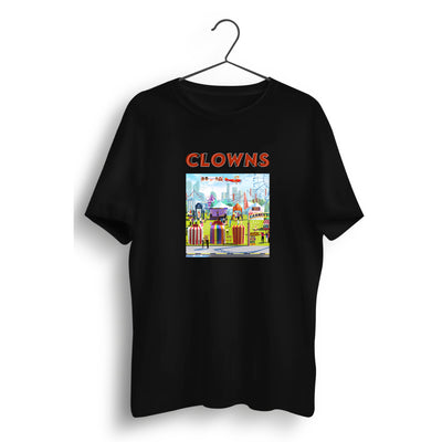 Clowns Graphic Printed Black Tee