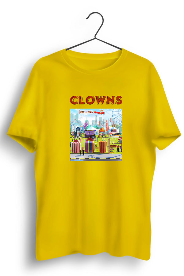 Clowns Graphic Printed Yellow Tee