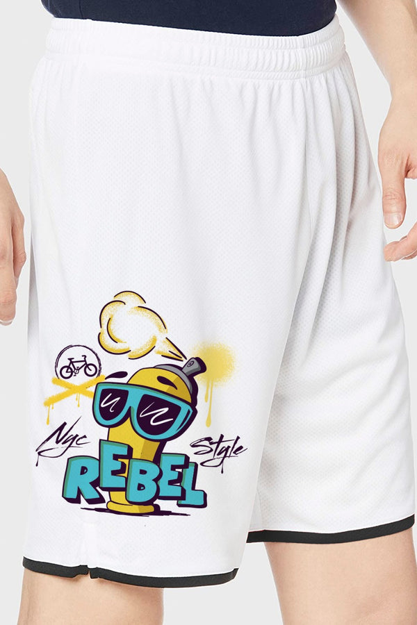 Rebel White Shorts