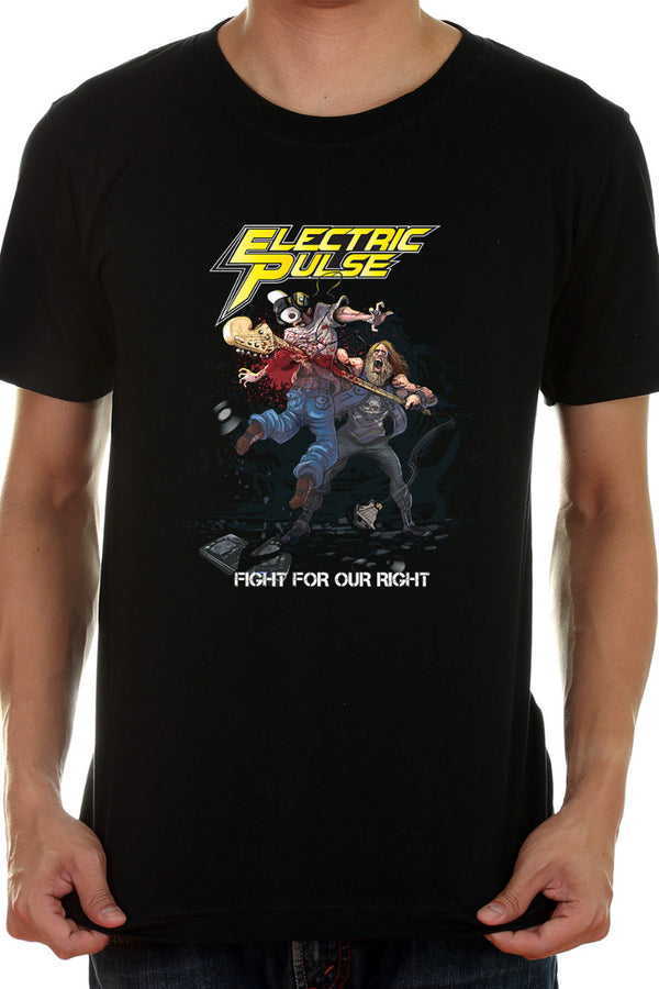 Electric Pulse - Hard Rock Band Black Fan Tshirt