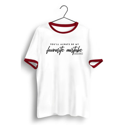 Favourite Mistake White and Red Ringer Tee