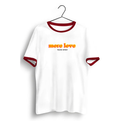 More Love White and Red Ringer Tee