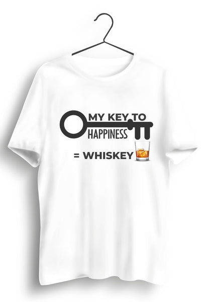 My Key to happiness White Tshirt