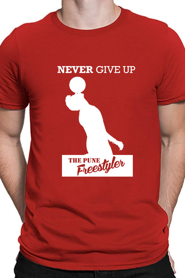 Never Give Up Red Tshirt