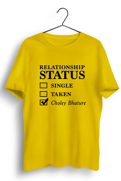 Relationship Status Yellow Tshirt