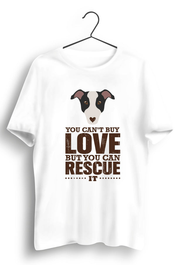 Rescue love White Tshirt