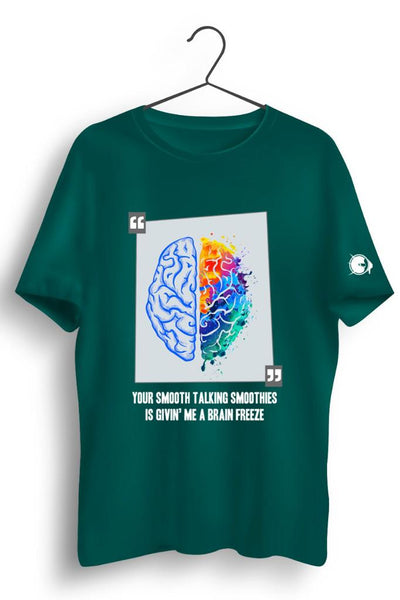 Shor Police Brain Freeze Green Tshirt